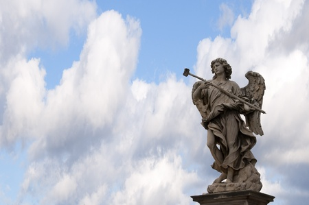 Statue on the Sant Angelo Bridge in Rome Italy