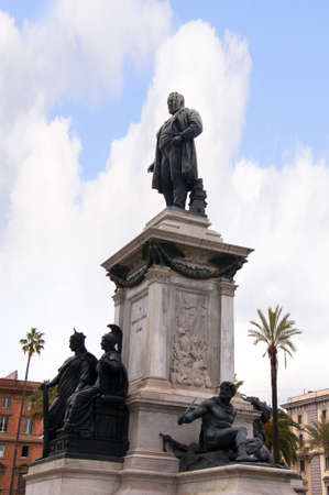cavour: Statue of Cavour behind the Palace of Justice Rome Italy