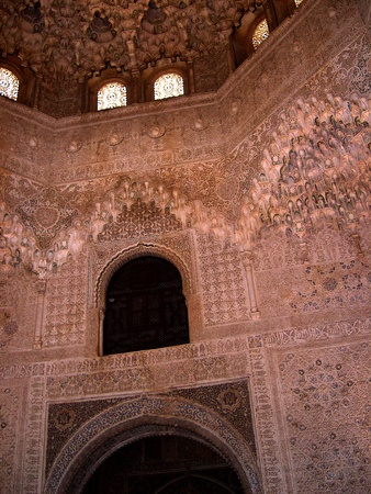 falla: Stone turned to Lace in the Alhambra Palace in Granada Spain