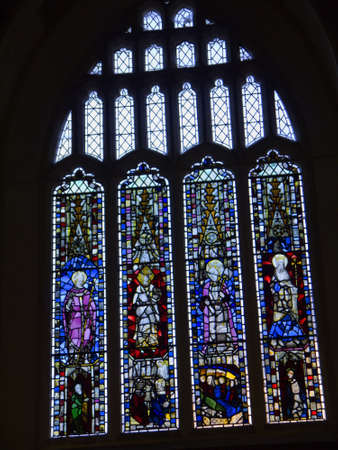 Stained glass in St Michaels Spurriergate Church in City of York England