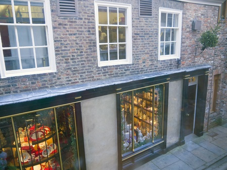 shambles: Shop in the Shambles area of York England