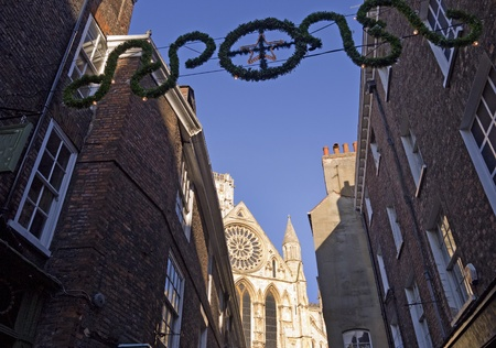 shambles: York MInster and Buildings in the Shambles Area of York England Editorial