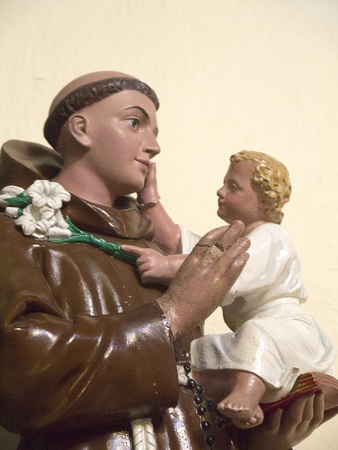 Statue of St Anthony of Padua in St Wilfred