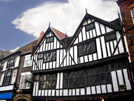 shambles: Ancient Building in the Shambles Area of York England Editorial