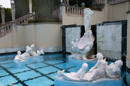Hearst Castle at San Simeon on the Big Sur California  USA