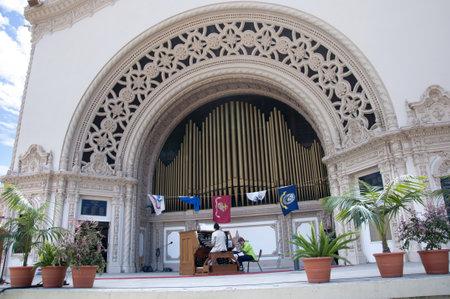 cid: Enormous Outdoor Pipe Organ in Balboa Park San Deigo California USA