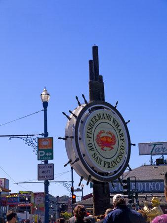 Signpost on Fishermans Wharf San Francisco USA