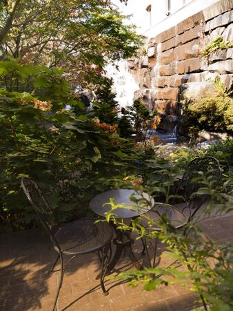 klondyke: Waterfall Garden in the City in Seattle Washington  USA Editorial