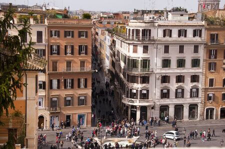 spanish steps: View from the Spanish Steps in Rome Italy Editorial