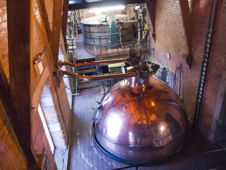 vats: Brewery Vats in Yorkshire England Editorial