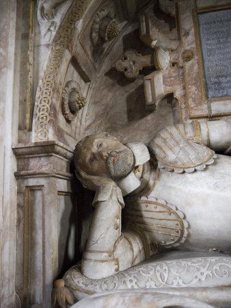 elizabethan: Elizabethan tomb in St Mary the Virgin Church in Masham Yorkshire Editorial