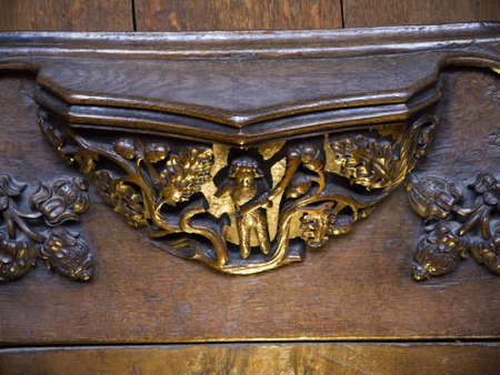woodcarving: Woodcarving in Ripon Cathedral in Yorkshire England