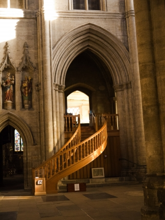 Stairs To The Library In Ripon Cathedral North Yorkshire Stock Photo    19326530
