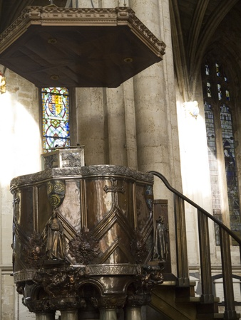 lewis carroll: Art Nouveau Pulpit in Ripon Cathedral Yorkshire England