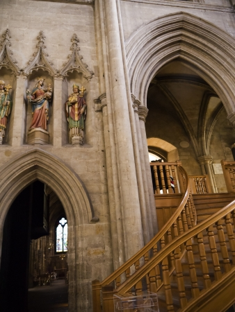 lewis carroll: Stairs to the Library in Ripon Cathedral North Yorkshire Editorial