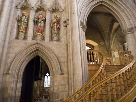Stairs to the Library in Ripon Cathedral North Yorkshire Editorial