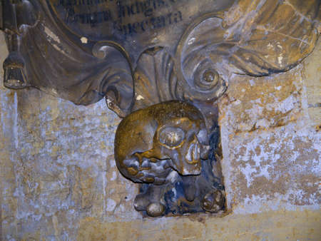 lewis carroll: Stone carving in Ripon Cathedral in Yorkshire England Editorial