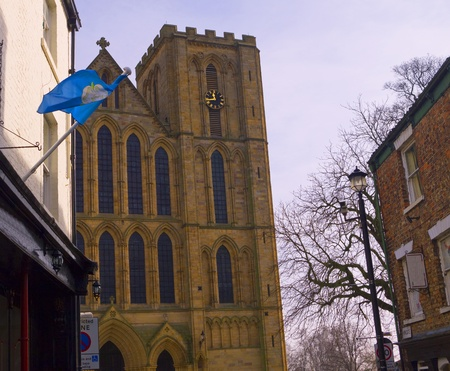 lewis carroll: The facade of cathedral of St Wilfrid in Ripon Yorkshire Editorial