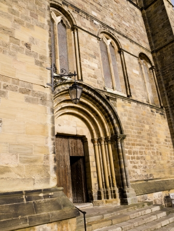 lewis carroll: Exterior of Ripon Cathedral in Yorkshire England