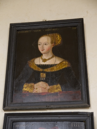 lewis carroll: Portrait of Queen Elizabeth 1 in Ripon Cathedral Yorkshire