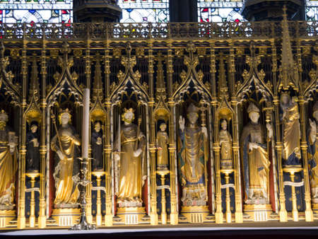lewis carroll: Altar of the Cathedral of Ripon in Yorkshire England