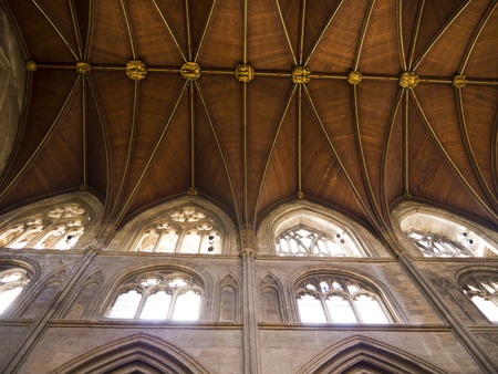 lewis carroll: nave of Ripon Cathedral in North Yorkshire England Editorial