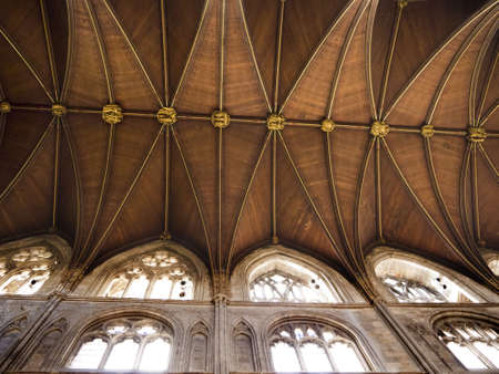 nave of Ripon Cathedral in North Yorkshire England Editorial