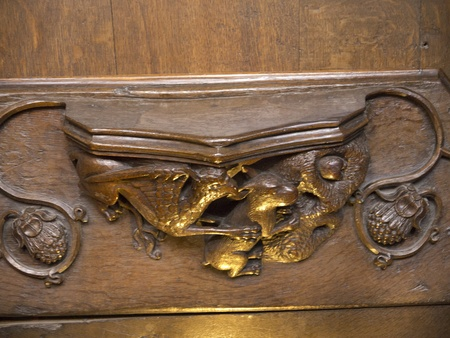 Woodcarving in Ripon Cathedral in Yorkshire England