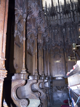 saxon: Woodcarving in Ripon Cathedral in Yorkshire England