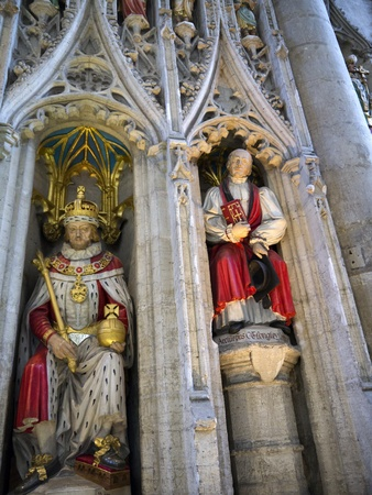 lewis carroll: The English Kings on Reredos of Ripon Cathedral in Yorkshire England Editorial