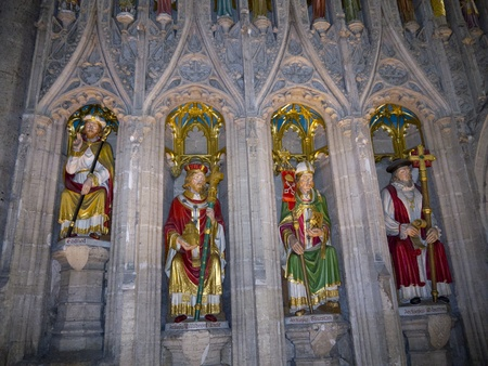 reredos: The English Kings on Reredos of Ripon Cathedral in Yorkshire England Editorial