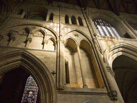 saxon: nave of Ripon Cathedral in North Yorkshire England Editorial