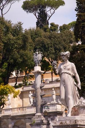 bernini: Piazza de Popolo Statues in Rome Italy