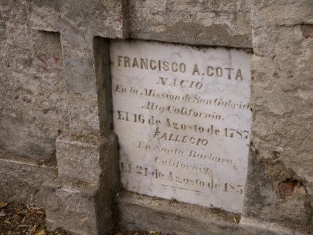 Garden of the Spanish Mission at Santa Barbara California USA