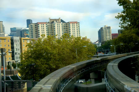 klondyke: The monorail transport system in Seattle Washington State USA