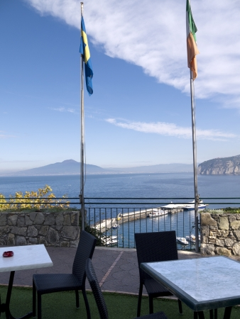 marquetry: Lovely Terrace on the cliffs of Sorrento Italy Editorial
