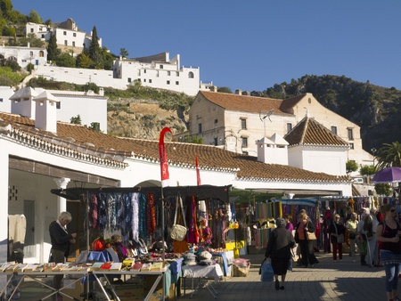 Frigiliana one of the most beautiful white villages of the Southern Spain area of Andalucia in the Alpujarra mountains.