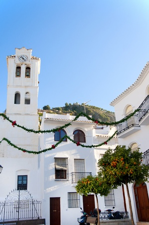 The Church in Frigiliana one of the White Villages in Andalucia Spain