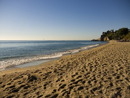 burriana beach: View over the Burriana Beach in Nerja Spain Editorial