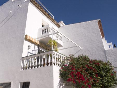 nerja: Villas dotted around Nerja in Andalucia Spain Editorial