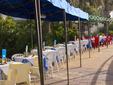 Cafe on the promenade in Nerja Spain Stock Photo - 19368662