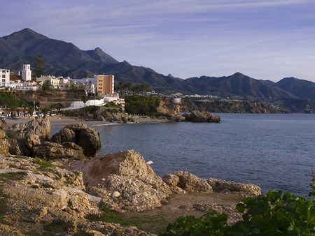 Nerja, a sleepy Spanish Holiday resort on the Costa Del Sol  near Malaga, Andalucia, Spain, Europe