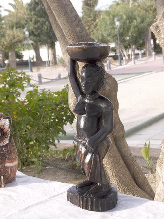 nerja: African Carving in Nerja Spain Editorial