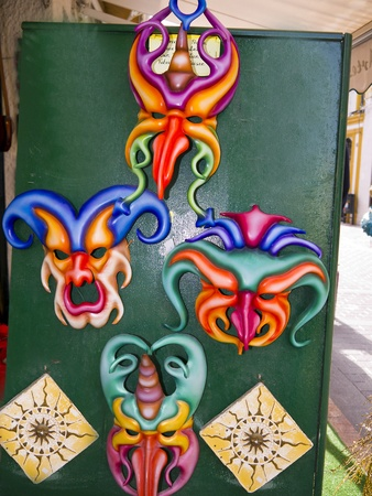 grotesque masks in Nerja Andalucia Spain Stock Photo - 19368702