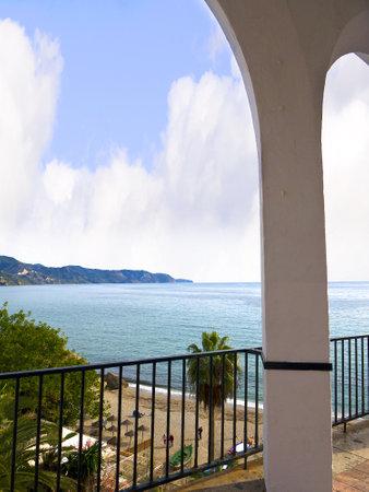balcon: View from the Balcon de Europa in Nerja Andalucia Editorial