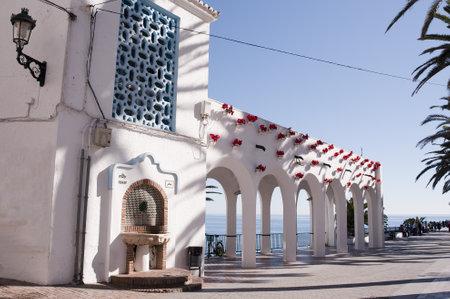 nerja: Balcon de Europa in Nerja Andalucia Spain