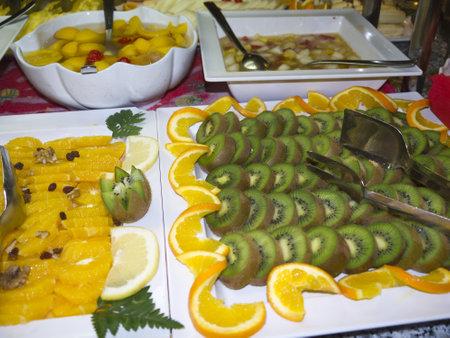 nerja: Dessert on Buffet in Nerja Spain Editorial