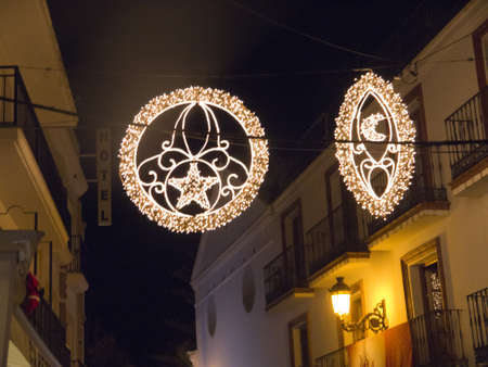 nerja: La decoraci?e Navidad en Nerja Andalucia Espa?