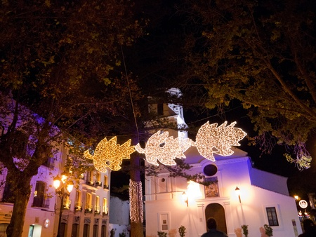 nerja: The Christmas decorations in Nerja Andalucia Spain
