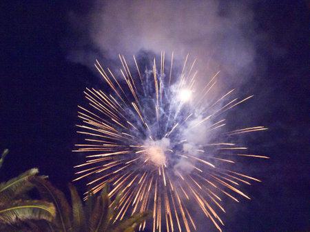 balcon: New Year fireworks on the Balcon de Europa in Nerja Spain